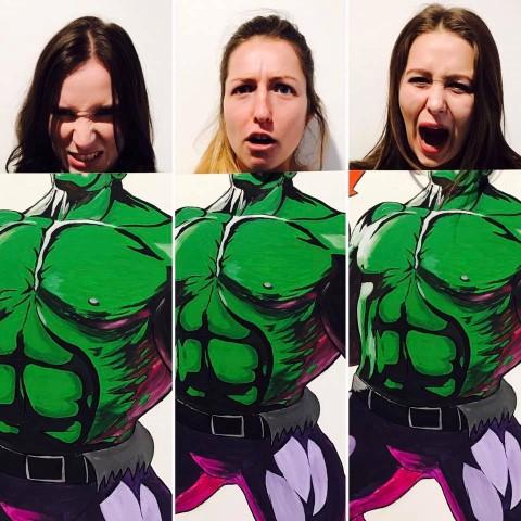 Wir machen den Hulk!