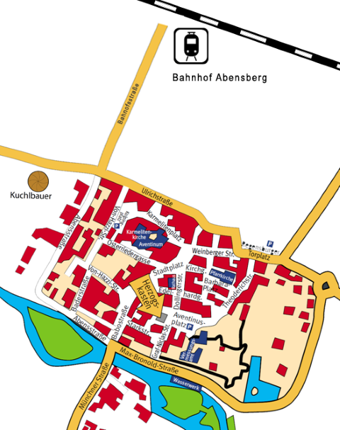 Stadtplan Abensberg
