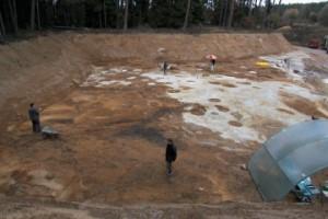 Übersichtsfoto der Grabung in Arnhofen, 2003