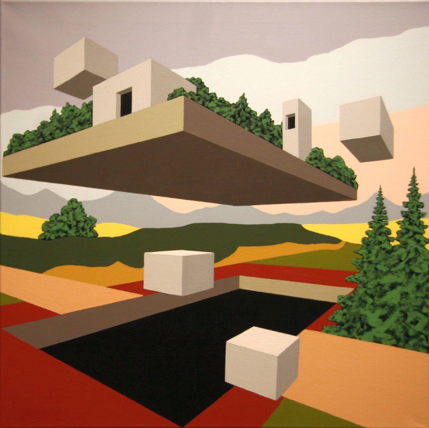 Martin Koroscha (Bremen): 6.10 I. Acryl auf Baumwolle, 70 x 70 cm, 2010.