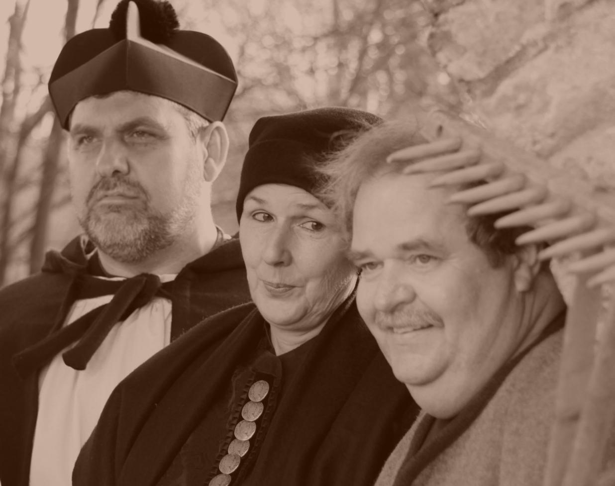 Die Schauspieler der szenischen Stadtführung