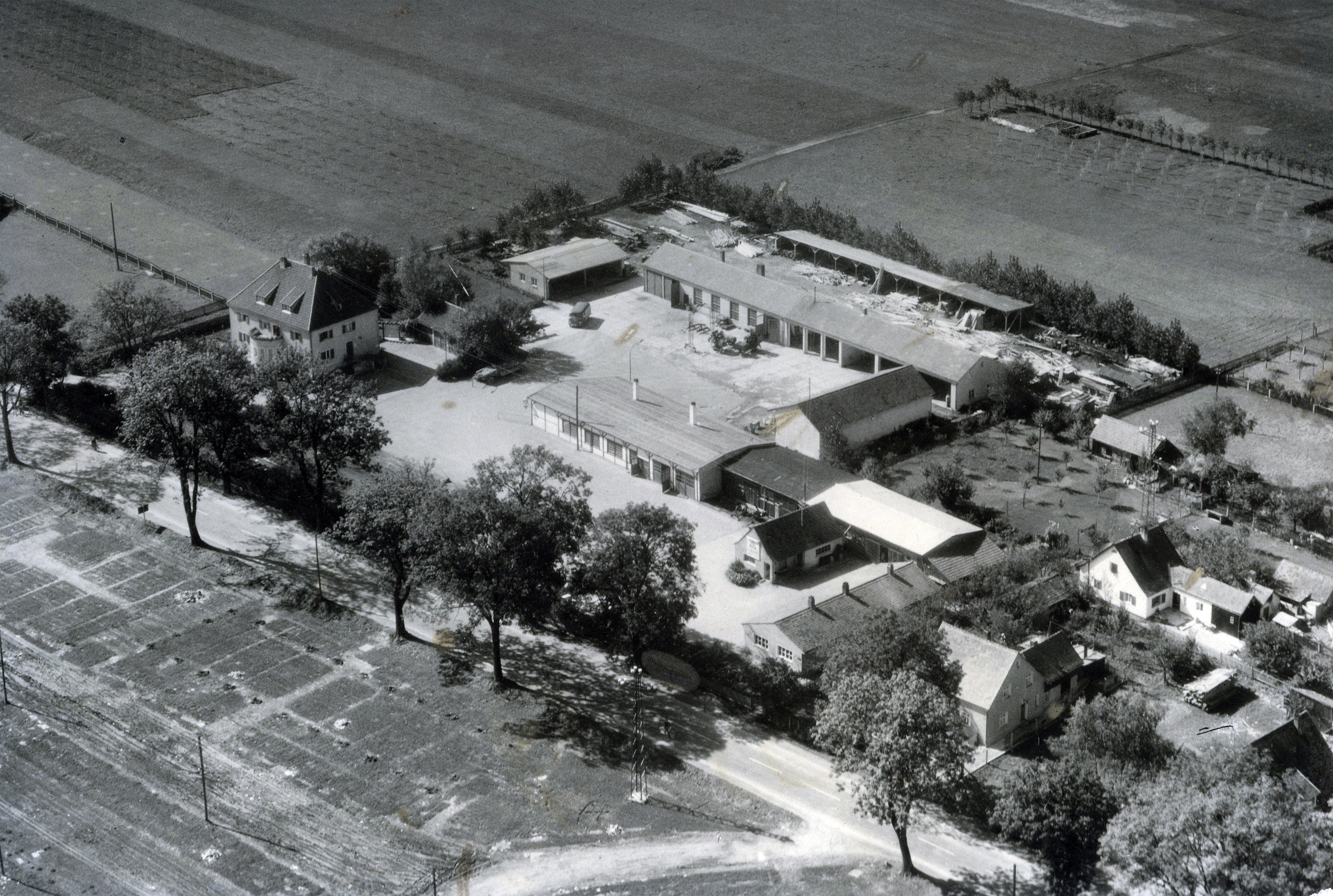 Betriebsgelände der Fa. Josef Stanglmeier, 1957