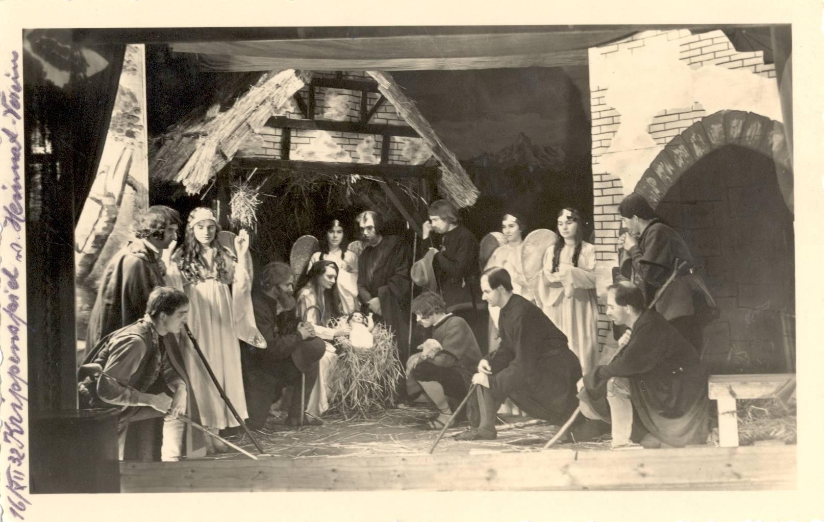 Krippenspiel das Abensberger Heimatvereins am 16.12.1932