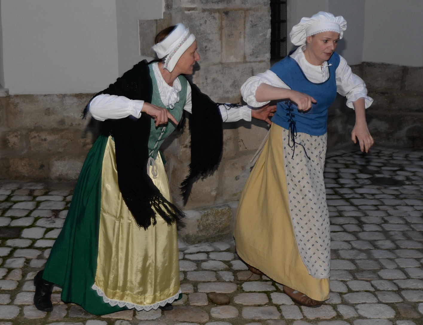 Frau Turmaier und Köchin Maria