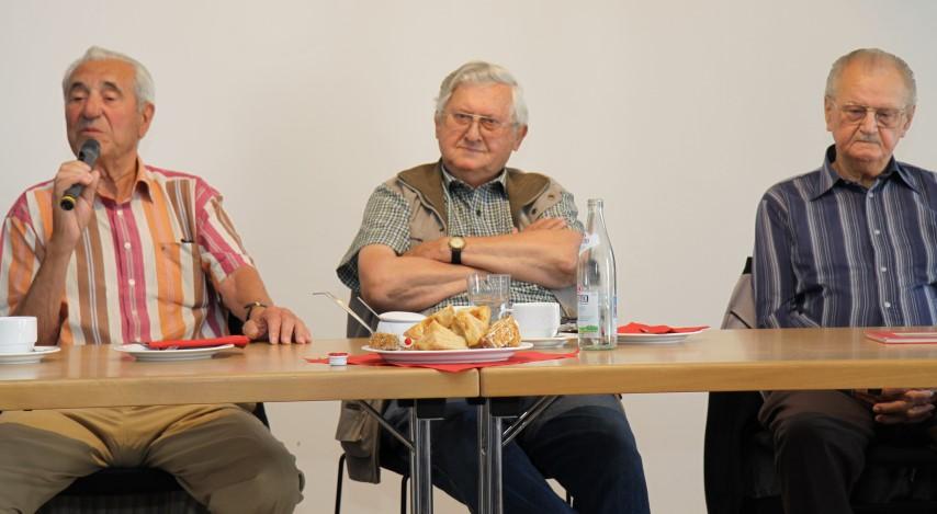 Zeitzeugen: Herr Krämer, Herr Aunkofer und Herr Grundler (v.l.n.r.)