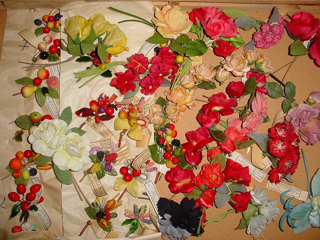Muster der Kunstblumenfabrik Wittenbeck, Abensberg