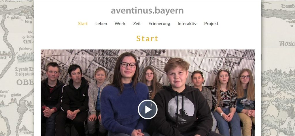 Screenshot der Website aventinus.bayern