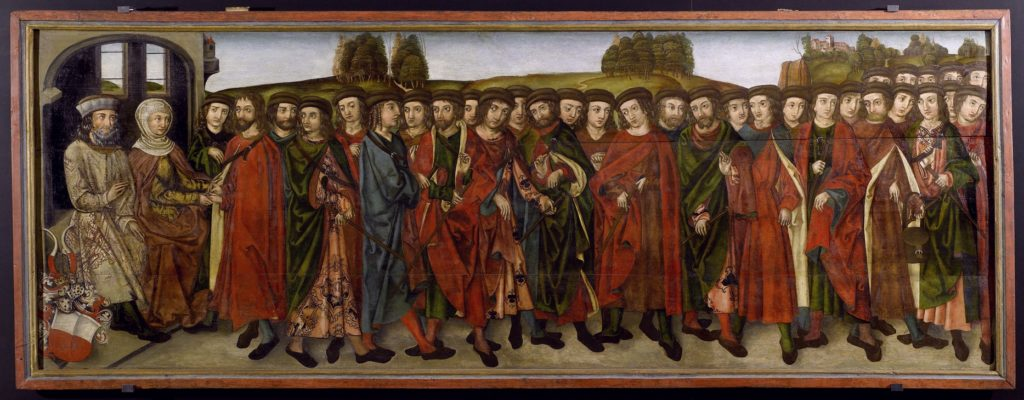 Die Söhne des Graf Babo (Das Babonen-Gemälde), um. 1500. Abensberg, Stadtmuseum
