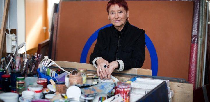 Rita Karrer im Atelier