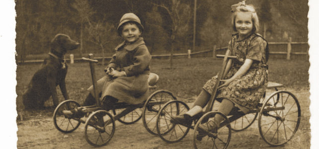 Wie's früher war… Dreirad, Tretroller, Stecklreißer