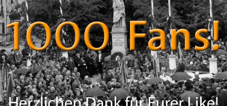 1000 Fans – Das feiern wir!