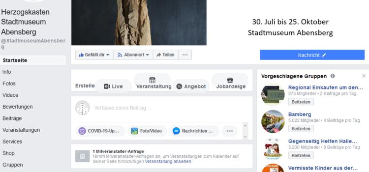 Stadtmuseum auf SocialMedia